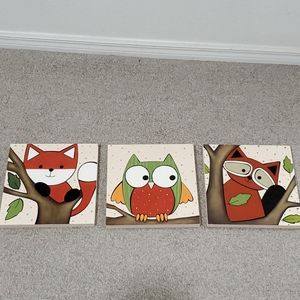 Handmade wood wall pictures for baby